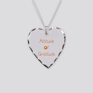 Attitude of Gratitude Necklace Heart Charm