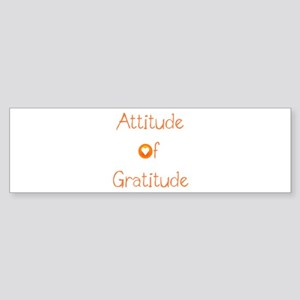 Attitude of Gratitude Sticker (Bumper)