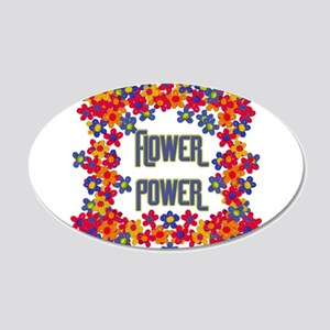 Flower Power 20x12 Oval Wall Decal