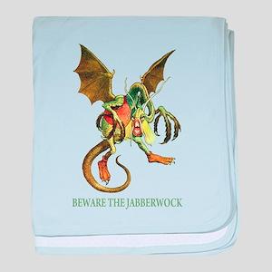 Beware The Jabberwock baby blanket