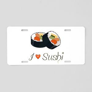 Sushi Aluminum License Plate