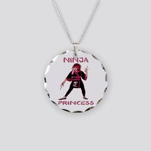 Ninja Princess Necklace Circle Charm