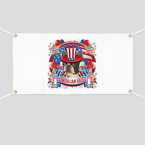 American Pride Boston Terrier Banner