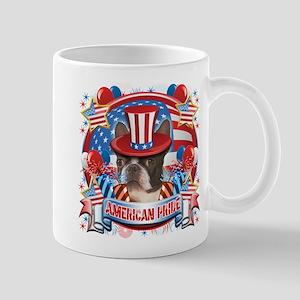 American Pride Boston Terrier Mug
