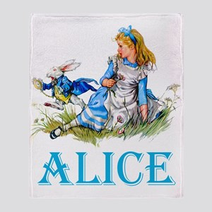 ALICE IN WONDERLAND - BLUE Throw Blanket