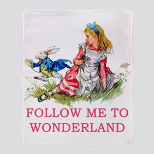 ALICE - Follow Me To Wonderland Throw Blanket