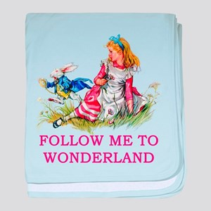ALICE - Follow Me To Wonderland baby blanket