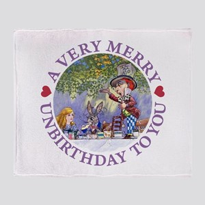 A VERY MERRY UNBIRTHDAY Throw Blanket