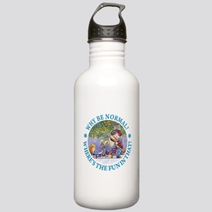 MAD HATTER - WHY BE NORMAL? Stainless Water Bottle