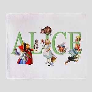 ALICE AND FRIENDS Throw Blanket