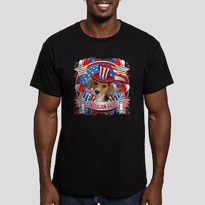 American Pride Beagle Men's Fitted T-Shirt (dark)