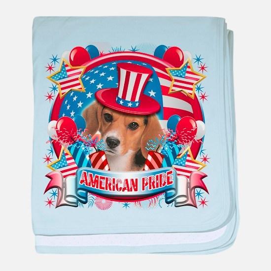 American Pride Beagle baby blanket