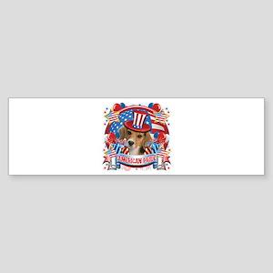 American Pride Beagle Sticker (Bumper)