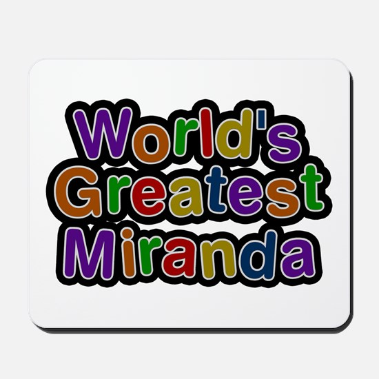 World's Greatest Miranda Mousepad