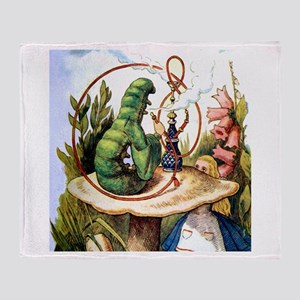 ALICE & THE CATERPILLAR Throw Blanket