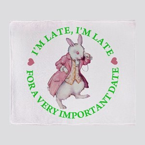 I'M LATE, I'M LATE Throw Blanket