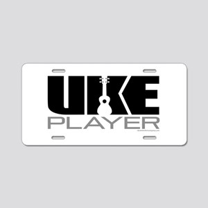 Uke Player Aluminum License Plate