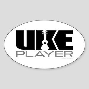 Uke Player Sticker (Oval)