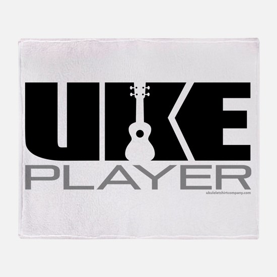 Uke Player Throw Blanket