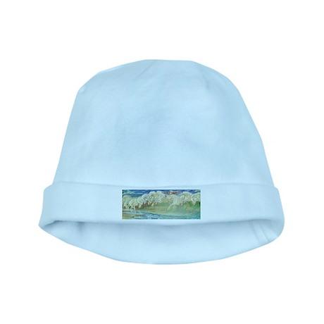 NEPTUNE'S HORSES baby hat
