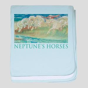 NEPTUNE'S HORSES baby blanket