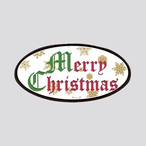 GOLDEN MERRY CHRISTMAS Patches
