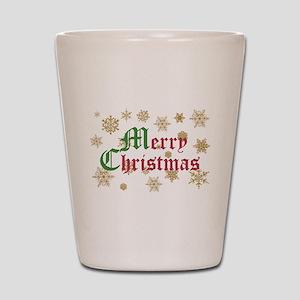 GOLDEN MERRY CHRISTMAS Shot Glass