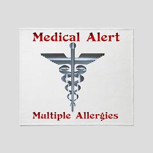 Medical Alert Multiple Drug A Throw Blanket