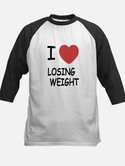 i heart losing weight Kids Baseball Jersey