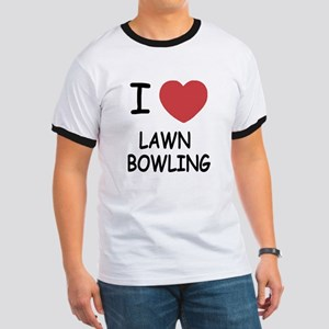 i heart lawn bowling Ringer T