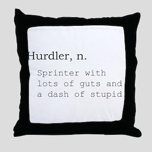 Hurdler Throw Pillow