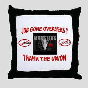 SUPPORT OPEN SHOP Throw Pillow