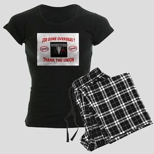 SUPPORT OPEN SHOP Women's Dark Pajamas