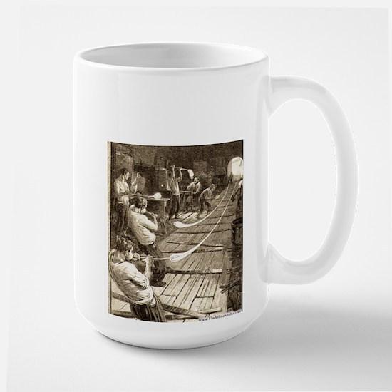 Blowing Glass Tubes Large Mug