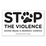 Stop The Violence Sticker (rectangle)