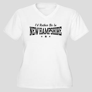 New Hampshire Women's Plus Size V-Neck T-Shirt