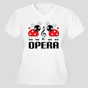 Opera Music Ladybug Women's Plus Size V-Neck T-Shi