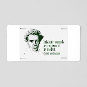 Kierkegaard on Christianity Aluminum License Plate