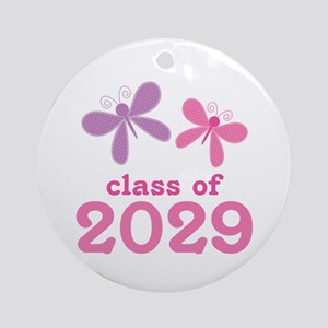 2029 Girls Graduation Ornament (Round)