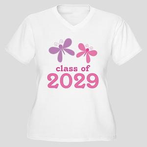 2029 Girls Graduation Women's Plus Size V-Neck T-S