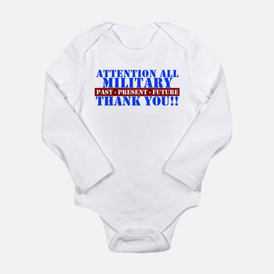 Funny Thank you Long Sleeve Infant Bodysuit