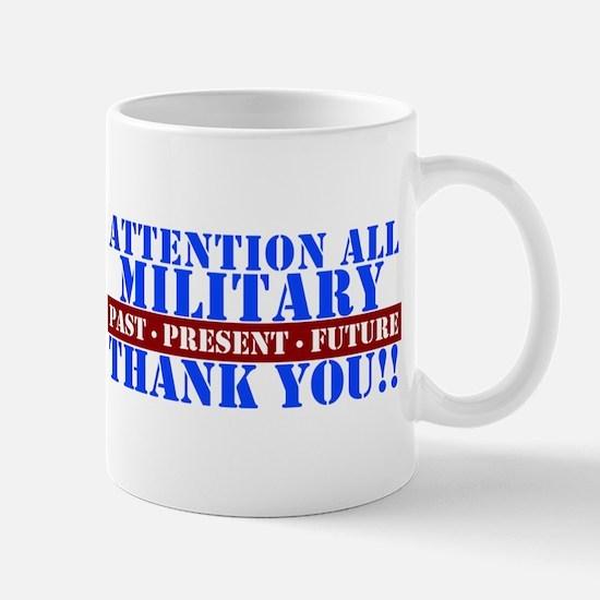 Unique Military thank you Mug