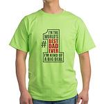 World's Best Dad Green T-Shirt
