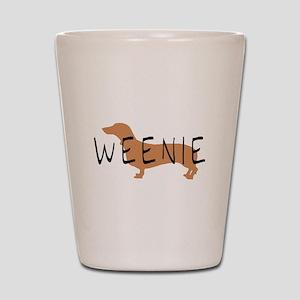 weenie dog dachshund Shot Glass