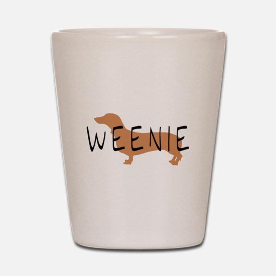 weenie dog dachshund Shot Glass