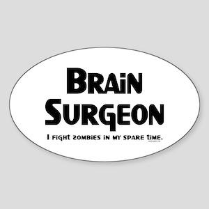 Brain Surgeon Gamer Sticker (Oval)