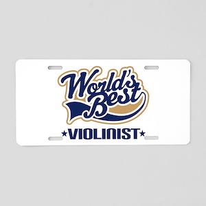 Violinist (World's Best) Aluminum License Plate