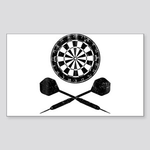 Vintage Darts Sticker (Rectangle)