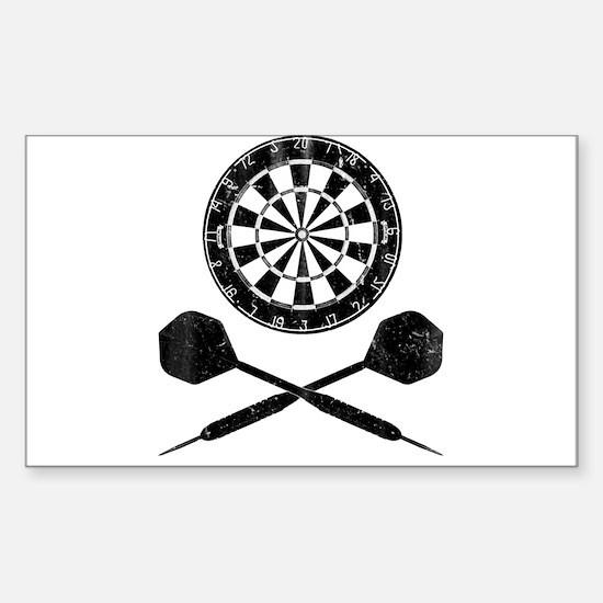 Vintage Darts Sticker (Rectangle)