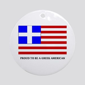 Proud to Be Greek American Ornament (Round)